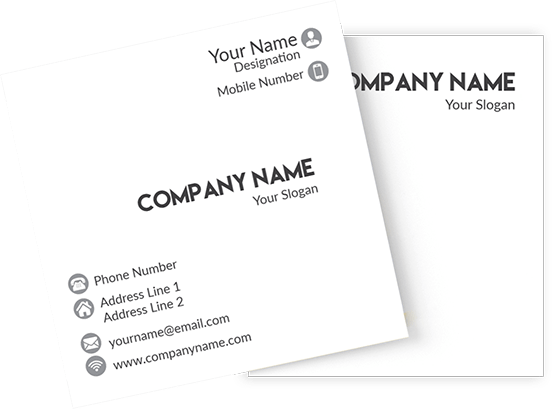 Square Two Side Business Cards Printing Online