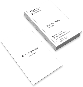 Vertical Two Side Visiting Cards