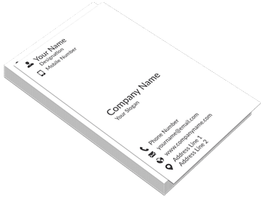 Vertical Visiting Cards Printing Online